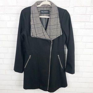Guess Los Angeles Women's Black Wool Coat Size M